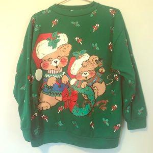 Vintage Christmas sweatshirt ugly sweater party